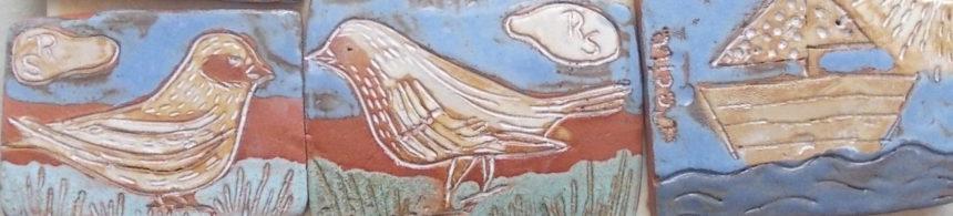 Steilshoop Durchgang Fehlingshöhe Mosaik-Vogelmotive