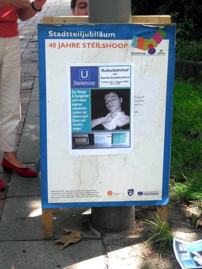 Plakatierung 7.August 09 Sascha Koratkewitsch